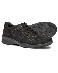 Earth Serval Perforated Leather Sneakers - Black