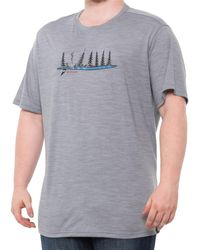 Smartwool Merino Sport 150 Camping With Friends Graphic T-shirt - Gray