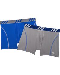 adidas Sport Performance Mesh Trunk - Pack Of 2 - Blue