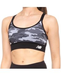 New Balance Logo Sports Bra - Black