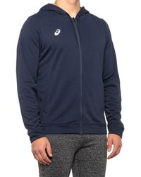 Asics French Terry Full-zip Hoodie - Blue