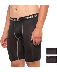 Reebok Long Leg Boxer Briefs - Black
