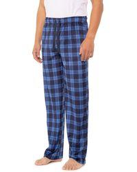 Izod Yarn-dyed Fleece Sleep Pants - Blue