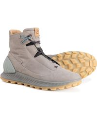 Ecco Made In Portugal Exostrike Mid Hiking Boots - Gray