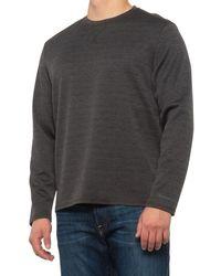 G.H. Bass & Co. Jacquard Diamond-quilted Crew Shirt - Black