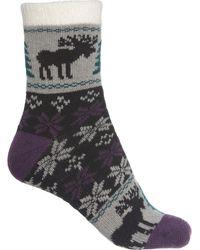 Woolrich Aloe-infused Snowflake Cozy Socks - Gray