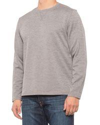 G.H. Bass & Co. Jacquard Diamond-quilted Crew Shirt - Gray