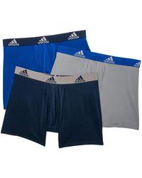 adidas 3-pk. Climalite® Boxer Briefs - Black