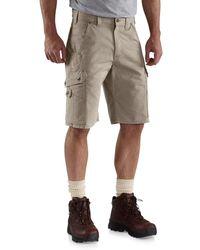 Carhartt B357 Ripstop Cargo Work Shorts - Natural