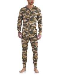 Carhartt K226t Midweight Cotton Union Suit - Natural