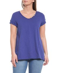 96c29055 Vince Marine Knitted Top in Blue - Lyst