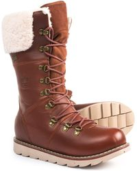 Royal Canadian - Louise Tall Leather And Shearling Winter Boots - Lyst
