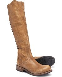 Bed Stu Surrey Tall Lace-up Boots - Brown