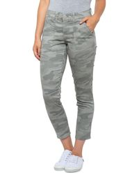 Democracy Abtechnology Twill Camo Ankle Skimmer Jeans - Gray