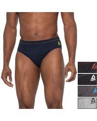 Reebok Black-grey-magnet-navy Essential Comfort Low-rise Briefs - Multicolor
