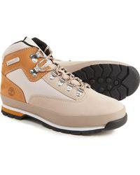 Timberland Euro Hiker Mid Hiking Boots - Natural