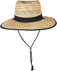 San Diego Hat Company Straw Lifeguard Hat - Black