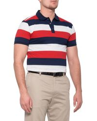 Bobby Jones Rule 18 Rugby Stripe Polo Shirt - Blue