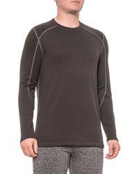 Terramar Black Merino Woolskins Grid Fleece Base Layer Top