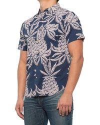 Roark Revival Hineapple Shirt - Blue