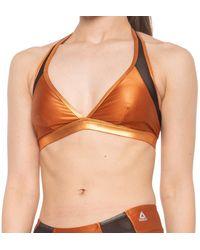 Reebok Metallic Mesh Bikini Top - Orange
