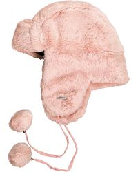 Chaos Tibby Faux-fur Trapper Hat With Pom Cords (for Women) - Pink