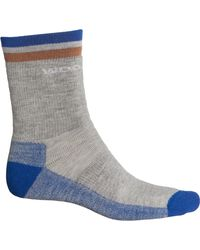 Woolrich Midweight Superior Top Stripe Hiking Socks - Gray