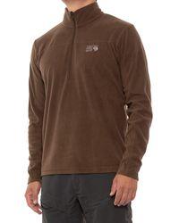 Mountain Hardwear Thermochill Microfleece Shirt - Brown