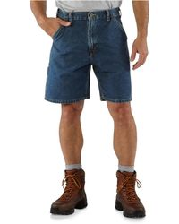 Carhartt B28 Loose Fit Utility Jean Shorts - Blue
