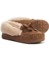 BEARPAW Indio Moccasin Slippers - Brown