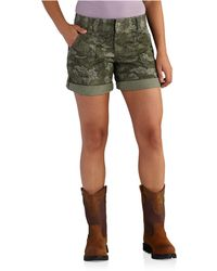 Carhartt 102532 Original Fit El Paso Printed Shorts - Green