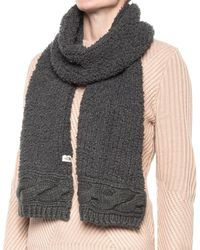 The North Face Mixed Stitch Scarf - Gray