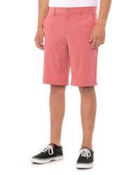 32 Degrees Stretch Melange Shorts - Red