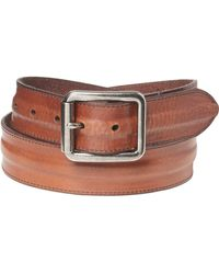 Frye Trapunto Detail Panel Belt - Brown