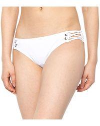 Krimson Klover Hanu Solid Bikini Bottoms - White