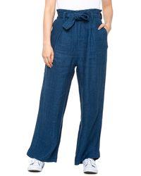 Faherty Brand Cypress Linen Pants - Blue