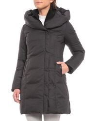 SOIA & KYO - Camyl Down Jacket With Oversized Hood - Lyst