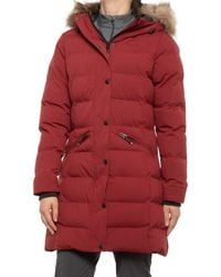 Kamik Cicely Long Puffer Jacket - Red