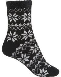 Woolrich Snowflake Fair Isle Aloe-infused Cozy Socks - Black