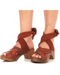 Free People Made In Spain Emmy Wrap Clogs - Brown