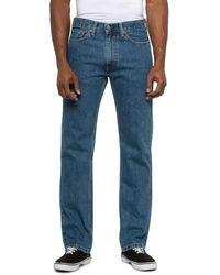 Levi's Stonewash 505 Regular Fit Jeans - Blue