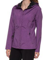 32 Degrees Melange Stretch Short Rain Jacket - Purple