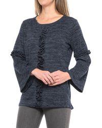 ddb6989841155 Lyst - August Silk Linen   Cotton Sleeveless Tunic Top in Blue