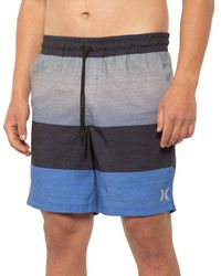 Hurley Printed Volley Swim Trunks - Blue