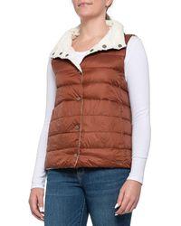 Carve Designs Foam-brunette Silverton Reversible Down Vest - Multicolor