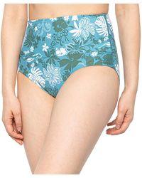 Krimson Klover Nokoni Reversible High-waisted Bikini Bottoms - Blue