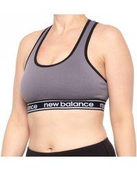 New Balance Heritage Branded Logo Sports Bra - Multicolor