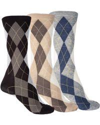 Ecco Argyle Socks - Gray