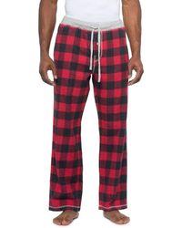 True Grit Red Melange Buffalo Check Flannel Pants