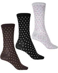 Ecco - Polka Dots Socks - Lyst